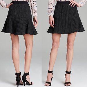 Rebecca Taylor Charcoal Textured Flounce Skirt